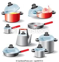 EPS vector de utensilios cocina Conjunto de cocina