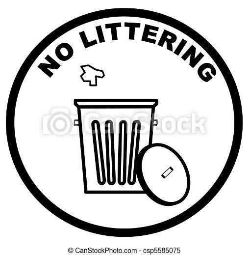 Stock de Ilustrationes de advertencia, señal, Tirar basura