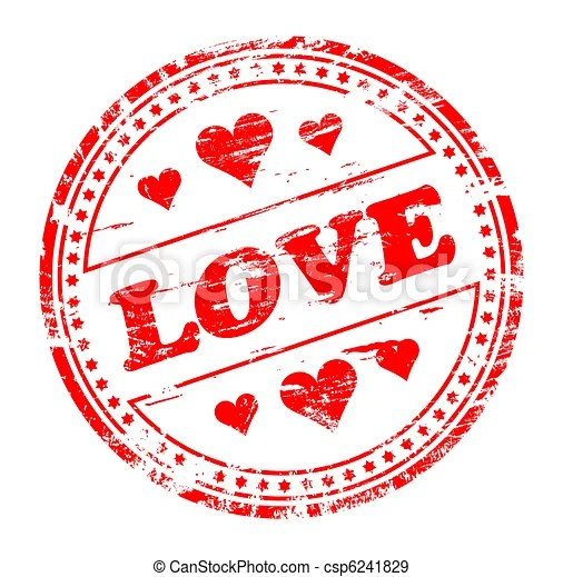Estampilla Amor Imagen Vectorial Libre De Derechos De