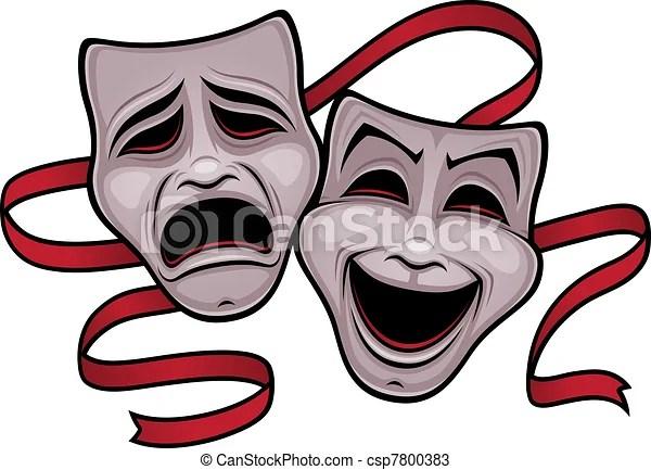 Mascaras De Teatro Dibujo Mvlc