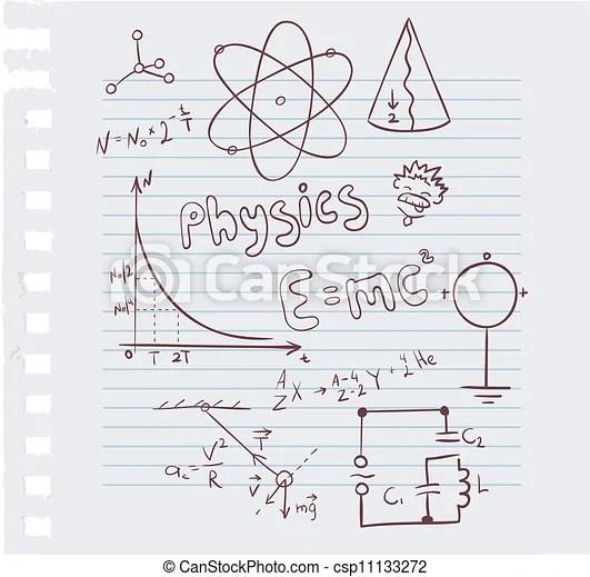 Física puesta. Ilustración del vector de la física