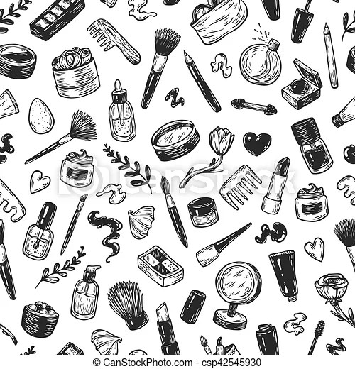 Cosméticos, make-up. Cepillos, lápiz labial, tools