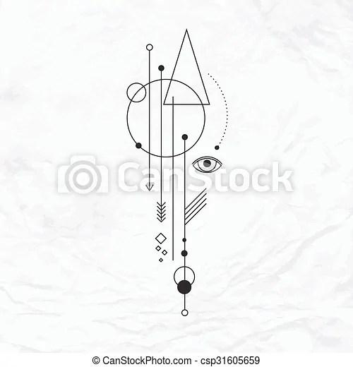 Místico Símbolo Geométrico Resumen Simple Místico Resumen