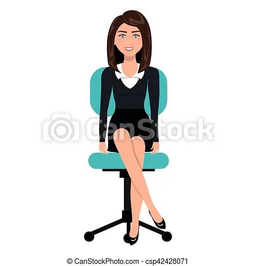 Persona silla oficina empresa  negocio sentado