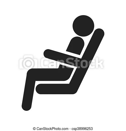 Persona silla tren figura sentado
