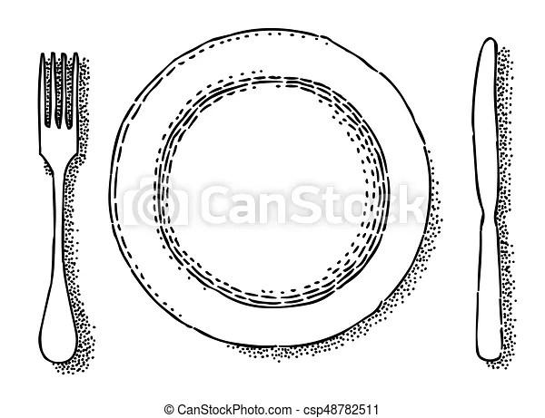 Tenedor, restaurante, imagen, caricatura, símbolo, icon