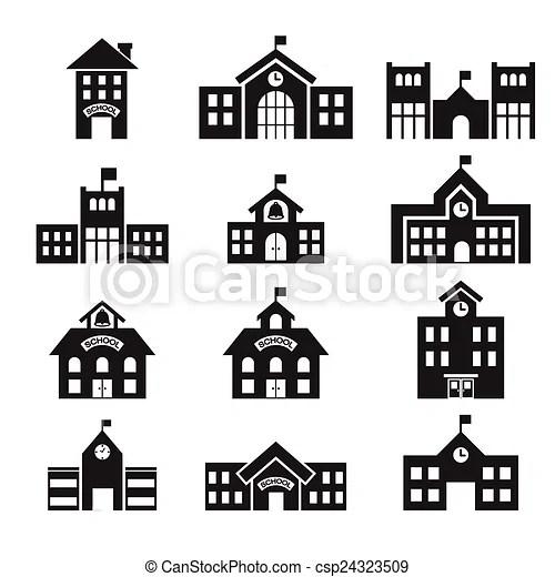 Bâtiment, 411school, icône. Bâtiment, école, icône.