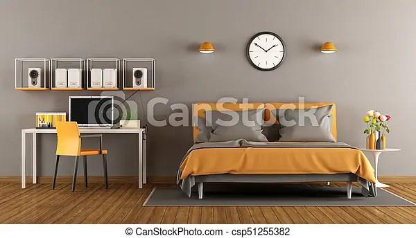 https www canstockphoto fr bureau moderne lit rendre chambre 51255382 html
