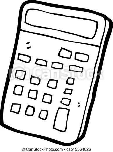 Calculatrice, dessin animé.