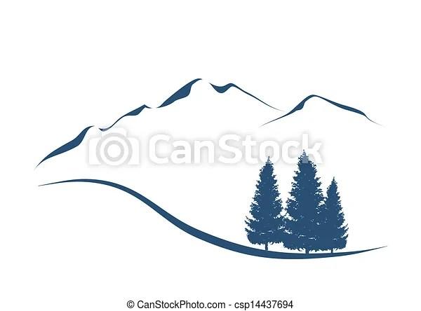 Vecteurs EPS De Stylis Illustration Projection Alpin