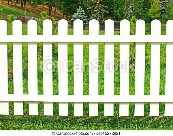 Photo de jardin blanc barrire  blanc barrire dans jardin csp15272921  Recherchez