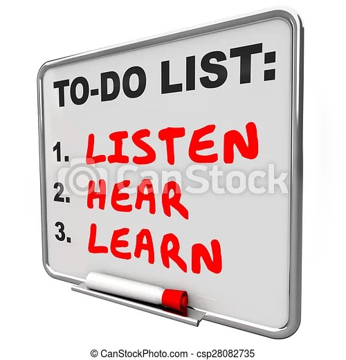 Image result for Time to listen graphic