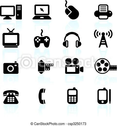 Vecteurs de communication, technologie, éléments