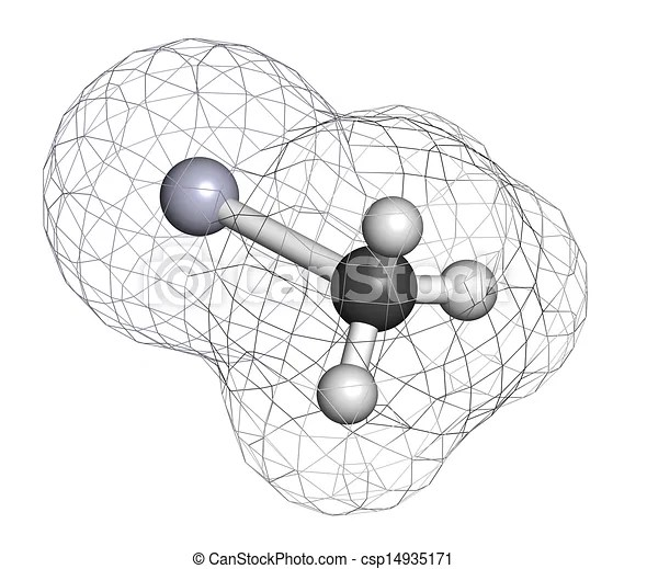 Cation, chemical structure. this highly toxic organometallic cation is often found in