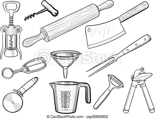 https www canstockphoto fr croquis ustensile cuisine 36690802 html