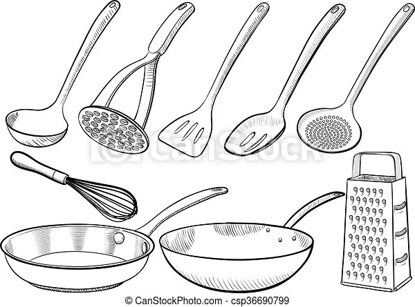 https www canstockphoto fr croquis ustensile cuisine 36690799 html