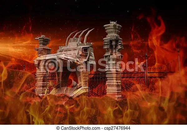 Enfer Portail Portail Illustration Enfer