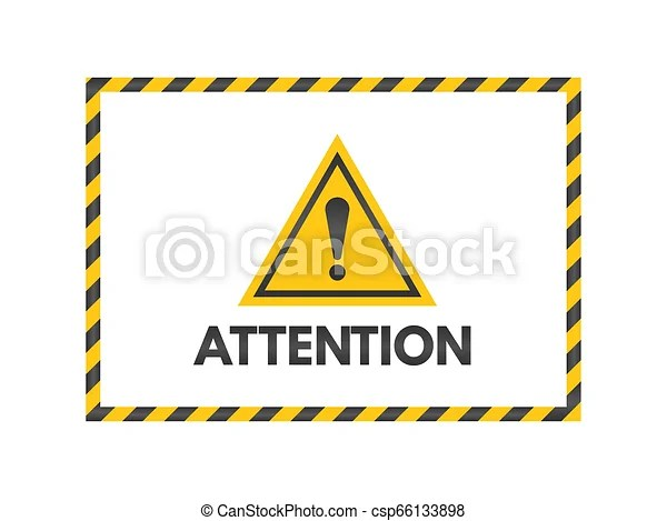https www canstockphoto fr exclamation attention triangle toile 66133898 html