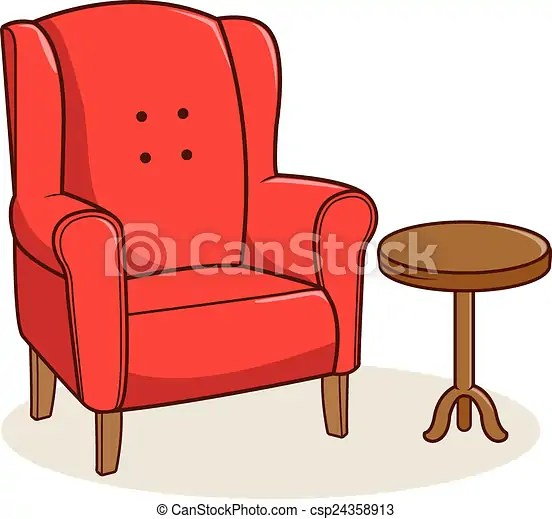 Fauteuil Table Ct Isolated Fauteuil Illustration