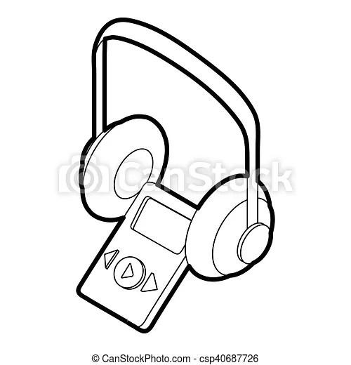 Icône, style, audio, guide, contour. Style, contour