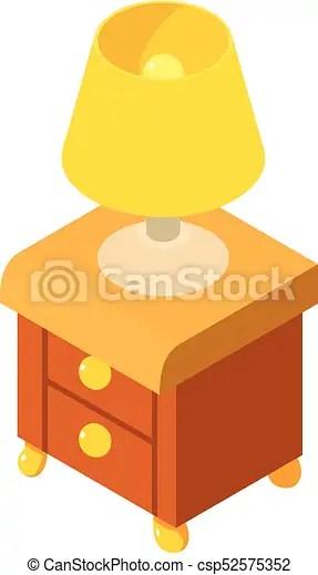icone table isometrique chevet style