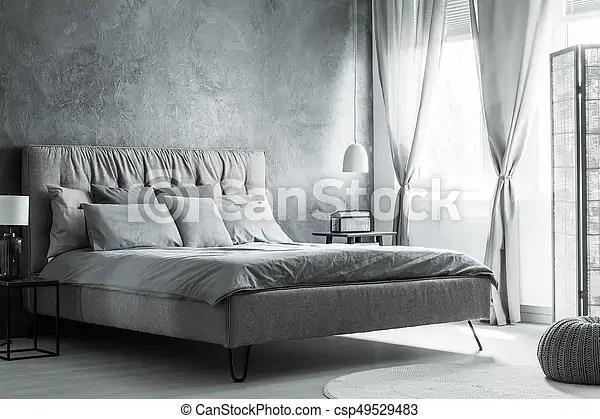 interieur gris blanc chambre a coucher