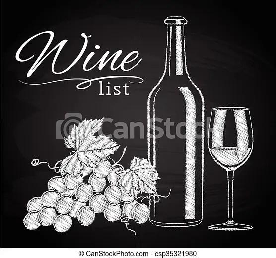 https www canstockphoto fr raisins vin bouteille tableau verre 35321980 html