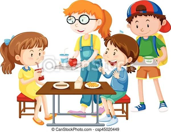 https www canstockphoto fr repas avoir enfants table 45020449 html