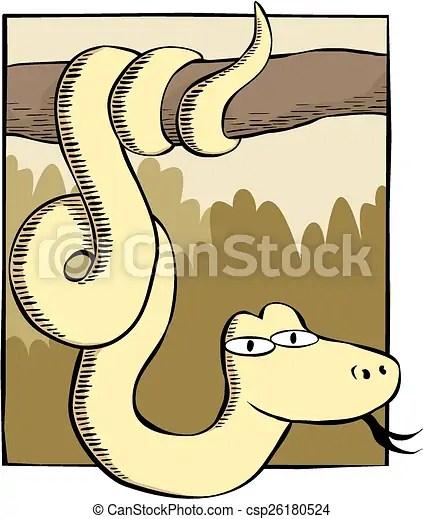 vecteur serpent branche
