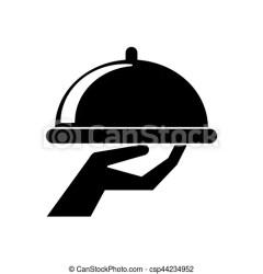 serveur service silhouette restauration plateau catering nourriture waiter vector dessin kellner vecteur abbildung tray eps vassoio alimento clipart icon dell