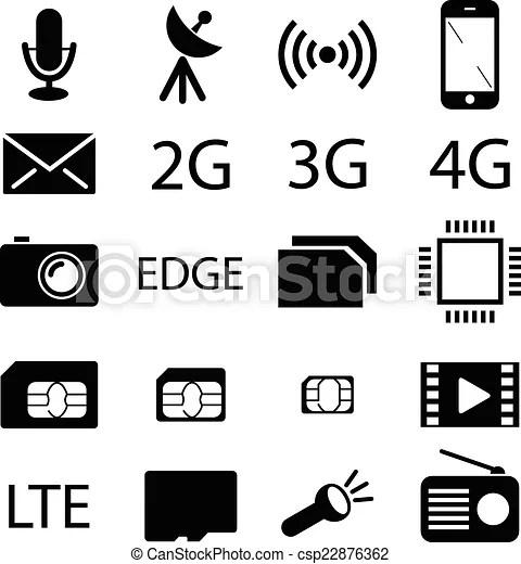 Téléphone portable, spécification, collection, icône