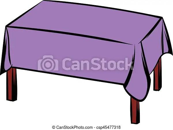 Style isol illustration vecteur table nappe dessin anim icne