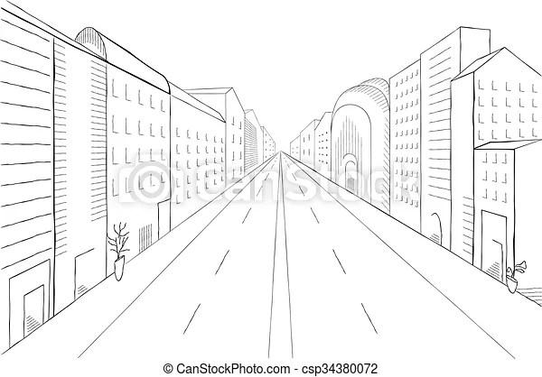 Vecteur, paysage urbain, illustration., bâtiments, moderne