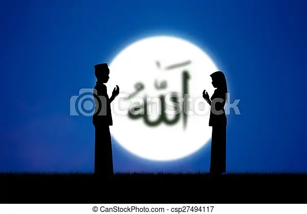 祈禱. 人們. 咒語. 藍色. sky.. 伊斯蘭教. islam.. 安拉. 詞. 上帝. 意味著.