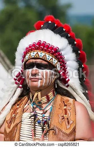 美國印地安人, 北方. Dress., 北方, 充分, 美國印地安人, 改造. | CanStock