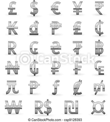 銀. 貨幣. 符號 - 集合. 銀. 貨幣. 符號. world:....csp9128393 的向量圖片 - 搜尋美工圖片、插圖、圖示和向量 EPS 美工 ...