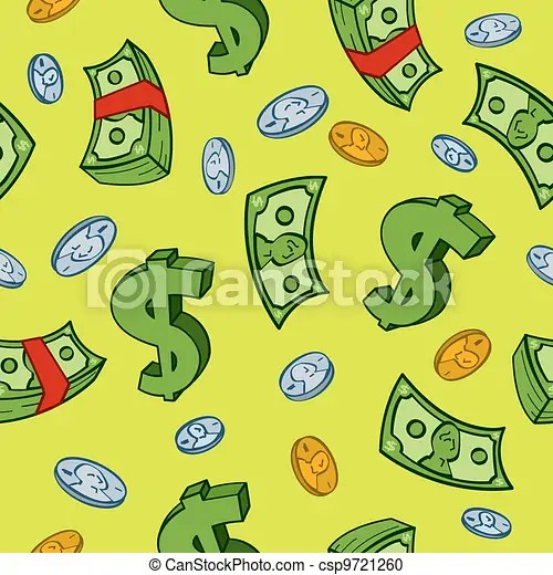 錢, 卡通, seamless, 圖案 - Seamless, 卡通, 錢, 以及, 美元, 簽署, 圖案csp9721260 的向量美工圖片 - 搜尋美工圖片 ...