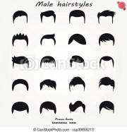 set of mens hairstyles