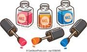 cartoon nail polish