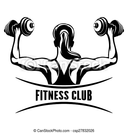Fitness club emblem. Fitness club logo or emblem with