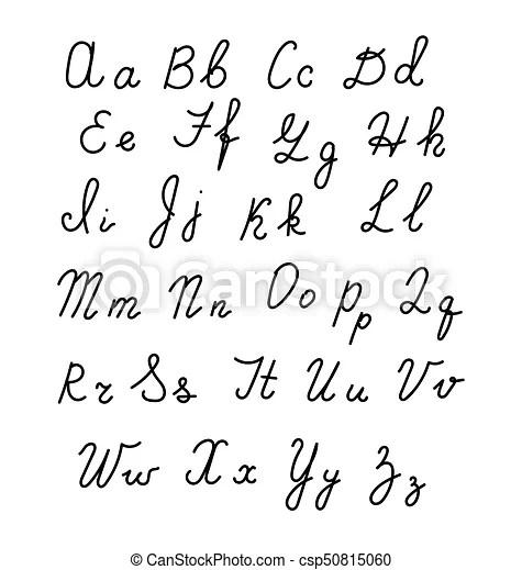 Hand drawn fonts. handwritten alphabe style modern