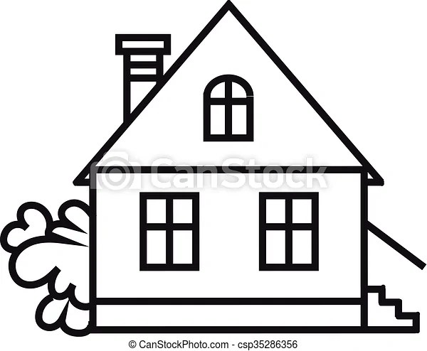 Sket one house. house, dwelling, symbol. Simple house icon