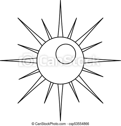 suns website auto electrical wiring diagram 1957 Sunbeam Car sun icon outline style sun icon outline illustration of