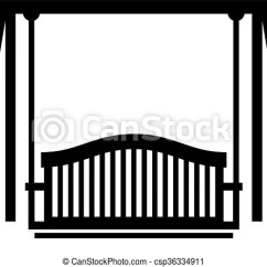 Swing Chair Drawing Wide Rocking Seat Shade Picture Csp36334911