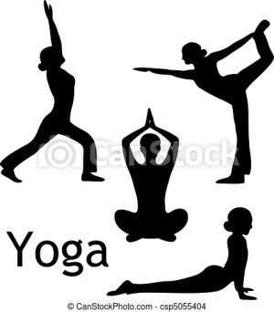 yoga poses vector silhouette background drawings clipart clip illustration drawing line isolated graphics eps illustrations icon graphic canstockphoto