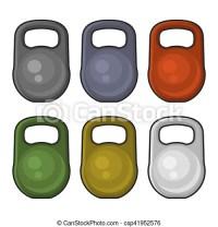 Illustrazioni vettoriali di peso, colorare, set ...