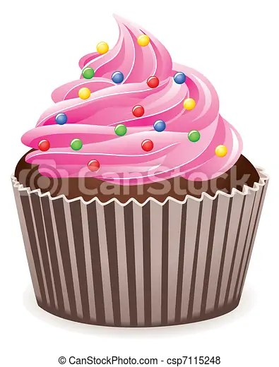vettore di rosa cupcake