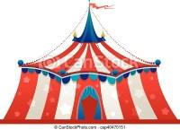 Circo, tendone, tenda. Circo, isolato, tendone, tenda.