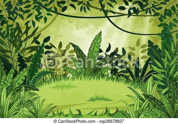 Illustrazione giungla paesaggio