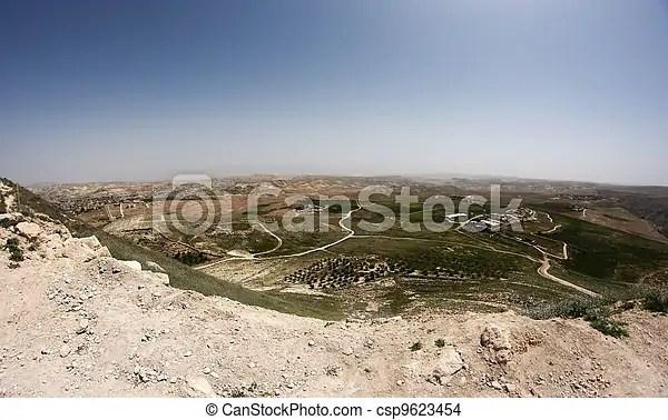 Israele jdudean palestinese territori disertare paesaggio